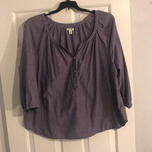 Old Navy 2X peasant tunic light purple top